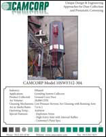 A low pressure reverse air dust collector for ground corn dust at ethanol plant project profile