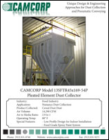 Read pleated bag element cartridge collector collecting cereal dust project profile