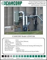 A project profile about grain dust and low pressure reverse air dust collector solution