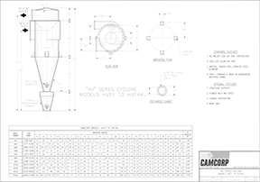 CAMCORP HV high volume cyclone drawing