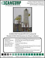 Read about CAMCORP HV120 cyclone model and 11SWF384 model reverse air dust collector project