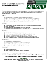 Dust Collector maintenance guidelines worksheet