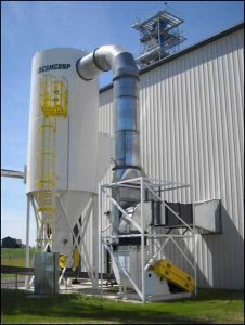 Installed low pressure reverse air dust collector by CAMCORP