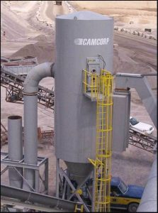 Installing a low pressure reverse air dust collector in the aggregates industry