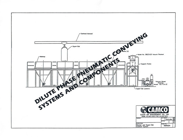 CAMCO First Pneumatic Conveying System drawing