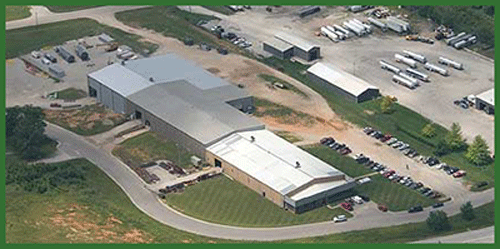 Aerial view of CAMCORP manufacturing facility