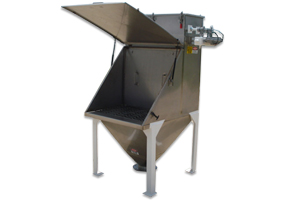 Stainless steel bag dump station