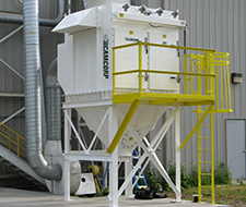 CAMCORP vertical cartridge CAM-AIRO dust collector installed