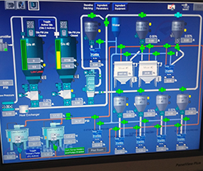 Pneumatic conveying system control panel