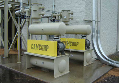 2 CAMCORP blower packages for bulk material handling