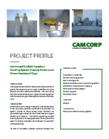 Project profile showing a small automated dry bulk ingredient handling-system by CAMCORP