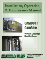 Read the CAMCORP CAM-AIRO vertical cartridge dust collector manual