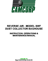 CAMCORP low pressure reverse air SWF model with inside mounted fan maintenance manual