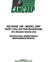 CAMCORP low pressure reverse air SWF model with outside mounted fan maintenance manual