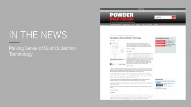 Read the CAMCORP article making sense of dust collection on Powder Bulk Solids
