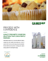 CAMCORP pneumatic conveying solutions for bakery industry flyer