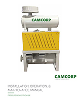 Read the CAMCORP pressure blower package installation operation and maintenance manual