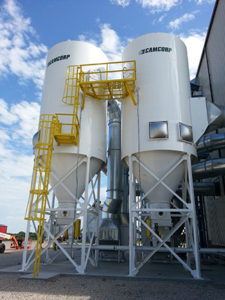 CAMCORP low pressure reverse air dust collector collecting seed dust