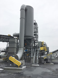 CAMCORP low pressure reverse air dust collector collecting limestone dust
