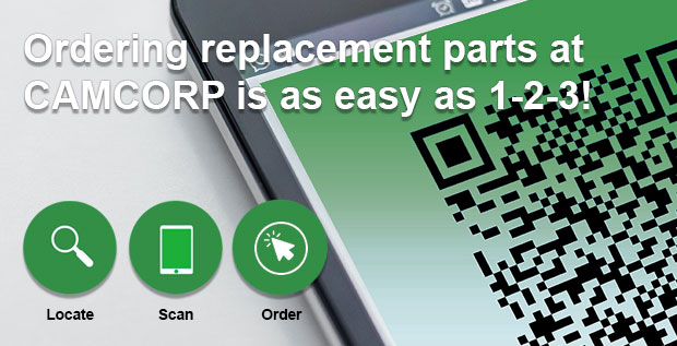 ordering replacement parts at CAMCORP is as easy as 123